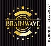 brainwave gold badge or emblem. ... | Shutterstock .eps vector #1502635907