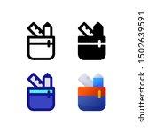 pencil case logo icon design in ...