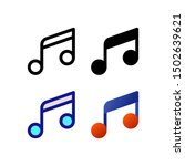 music logo icon design in four...