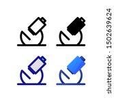 microscope logo icon design in...