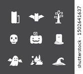 vector icon set with halloween... | Shutterstock .eps vector #1502641637
