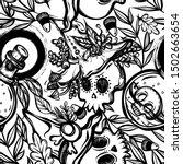 vector illustration  halloween  ... | Shutterstock .eps vector #1502663654