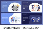 set of creative website... | Shutterstock .eps vector #1502667554