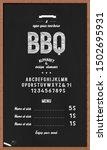 "font and alphabet ""bbq"".... | Shutterstock .eps vector #1502695931"