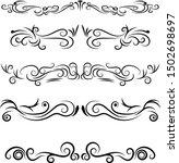 hand drawn decorative swirls... | Shutterstock .eps vector #1502698697