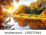 River In A Delightful Autumn...