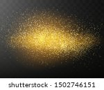 glitter particles effect. gold... | Shutterstock .eps vector #1502746151
