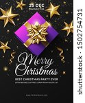 christmas black party poster... | Shutterstock .eps vector #1502754731