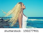 photo of beautiful young blonde ... | Shutterstock . vector #150277901