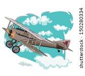 vintage airplane  | Shutterstock .eps vector #150280334