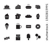 set of cake and sweets vector... | Shutterstock .eps vector #1502815991