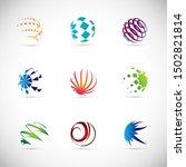 globe logo set   isolated on...   Shutterstock .eps vector #1502821814