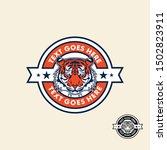 tiger retro vintage patch badge ... | Shutterstock .eps vector #1502823911