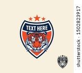 tiger retro vintage patch badge ... | Shutterstock .eps vector #1502823917