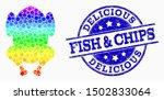 pixel spectral fried chicken... | Shutterstock .eps vector #1502833064