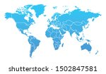 detailed blue gradient world... | Shutterstock .eps vector #1502847581