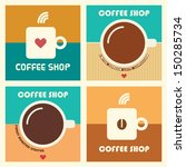set of coffee shop vector... | Shutterstock .eps vector #150285734