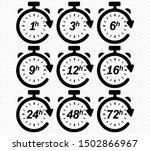 clock arrow 1  3  6  9  12  16  ... | Shutterstock .eps vector #1502866967