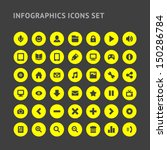 set infographics web icons or... | Shutterstock .eps vector #150286784