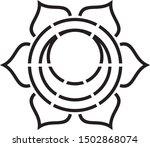 sacral chakra stencil  sacred...   Shutterstock .eps vector #1502868074