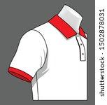 white polo shirt vector for... | Shutterstock .eps vector #1502878031