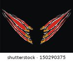 claws scratches vector    Shutterstock .eps vector #150290375
