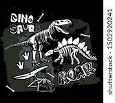 Typography Print With Dinosaur...