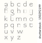 skeleton minuscule letters with ... | Shutterstock .eps vector #150292199