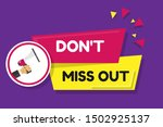 dont miss out   megaphone... | Shutterstock .eps vector #1502925137