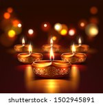 diwali holiday poster with... | Shutterstock .eps vector #1502945891