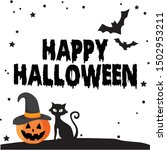 happy halloween art  vector... | Shutterstock .eps vector #1502953211