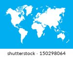 world map on earth... | Shutterstock . vector #150298064