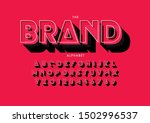 vector of stylized modern font...   Shutterstock .eps vector #1502996537