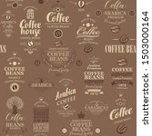 vector seamless pattern on... | Shutterstock .eps vector #1503000164