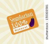 vegetarian label over grunge... | Shutterstock .eps vector #150303581