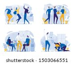 cartoon office worker team...   Shutterstock .eps vector #1503066551