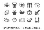 cooking icons. boiling time ... | Shutterstock .eps vector #1503105011