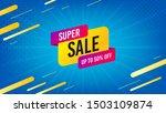 super sale badge. discount... | Shutterstock .eps vector #1503109874