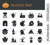 halloween vector set of modern... | Shutterstock .eps vector #1503120611