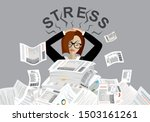 young stressed woman have no... | Shutterstock .eps vector #1503161261