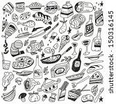food doodles | Shutterstock .eps vector #150316145