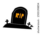 tombstone rip grave flat single ... | Shutterstock .eps vector #1503198854