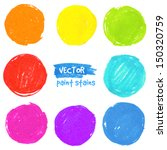Rainbow Colors Vector Paint...