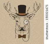 fashion illustration of deer... | Shutterstock .eps vector #150321671