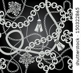 silver chain seamless vector... | Shutterstock .eps vector #150322865