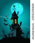 halloween background with...   Shutterstock .eps vector #1503235604