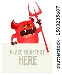 Funny Cartoon Monster Peeping...