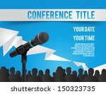 conference template... | Shutterstock .eps vector #150323735