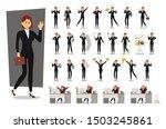 set of businesswoman character... | Shutterstock .eps vector #1503245861