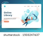 landing page online library...